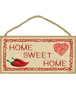 Home Sweet Home (letters made of chile p