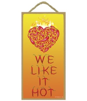 We like it hot! (letters made of chile p