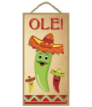 Ole! Chiles in a sombreros 5x10