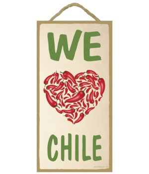 We love Chile (heart made up of chiles)