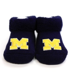 U of M Infant Booties