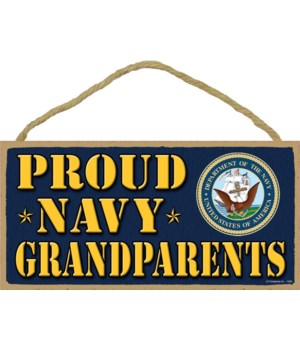 Proud Navy Grandparents 5x10