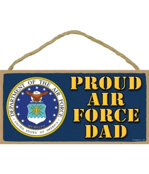 Proud Air Force Dad 5x10