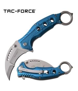 """K-25 Light Blue Karambit 5.5"""" S/A knife"""