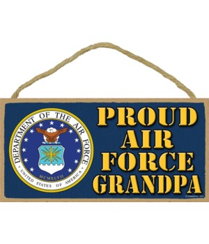 Proud Air Force Grandpa 5x10