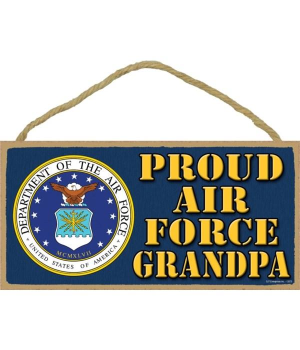 Proud Air Force Grandpa 5x10