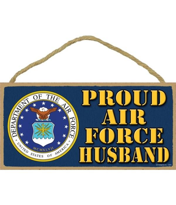 Proud Air Force Husband 5x10