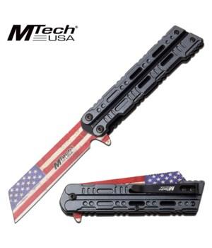 """K-10 Cleaver US Flag 4.25"""" S/A knife"""