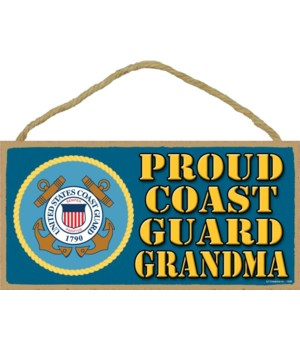 Proud Coast Guard Grandma 5x10