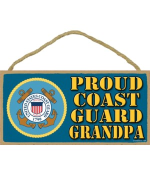 Proud Coast Guard Grandpa 5x10