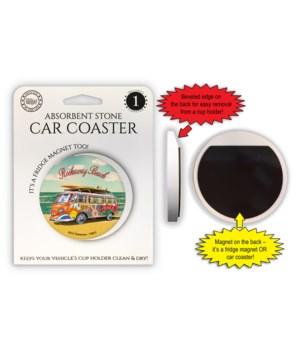 VW Van on beach - no palms - Rockaway Be