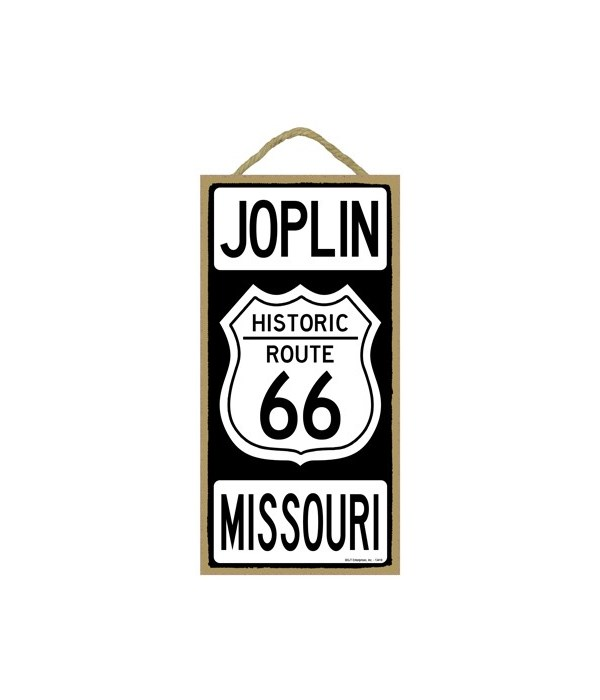 Historic ROUTE 66 Joplin, Missouri (blac