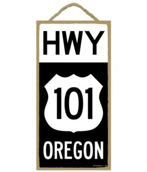 HWY 101 Oregon (black and white route si