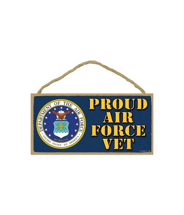 Proud Air Force Vet 5x10