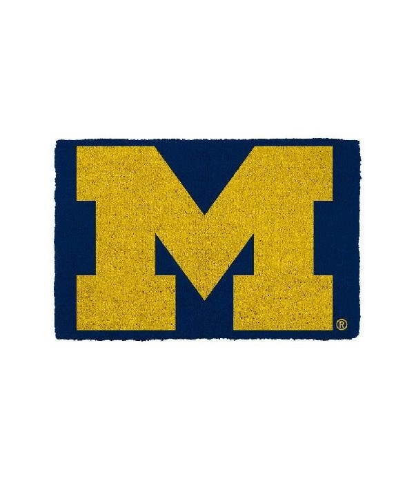 U of M Houseware Doormat Team Colors