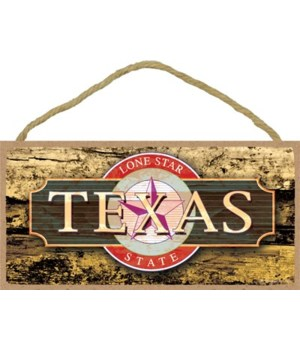 Texas - Yellow Writing with Red Seal - Y