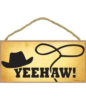 Texas - Yeehaw - Hat with Lasso - Yellow