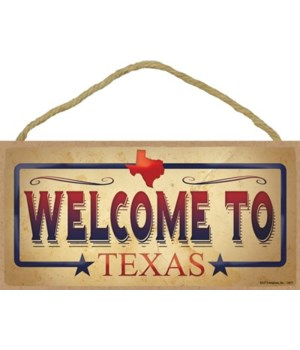 Texas - Welcome to Texas - Blue Boarder