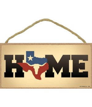 Texas - Home with Outline of Texas as th