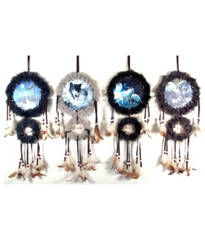 "Dreamcatcher 4/A Wildlife 16""H /12pc"