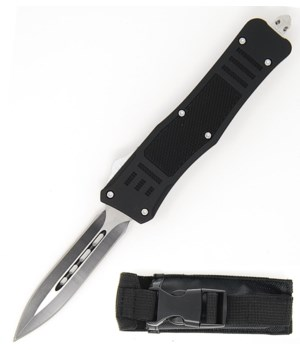 "OTF 5"" BLK  knife w/case"