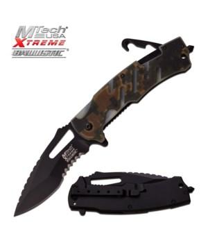 """OTF 5.5"""" BLK handle knife w/case"""