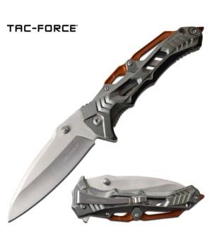 "Orange / gray 4.75"" S/A knife"
