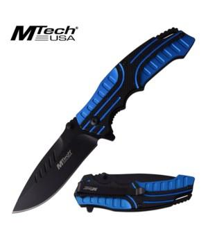 """Blue black 4.5"""" S/A knife"""
