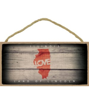 "ILLInoIS - State Outline with ""Love"" and"