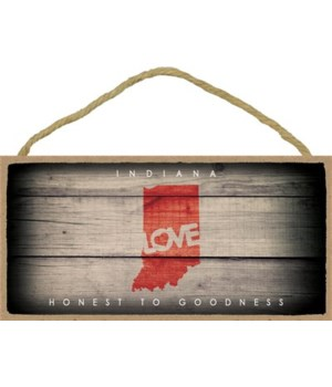 "INDIANA - State Outline with ""Love"" and"