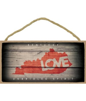 """KENTUCKY - State Outline with """"Love"""" and"""
