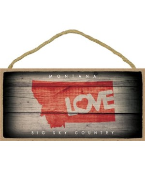 "MONTANA - State Outline with ""Love"" and"