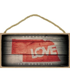 "NEBRASKA - State Outline with ""Love"" and"
