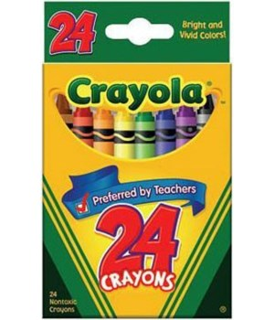 """Crayola 24ct crayons 3-1/2"""""""