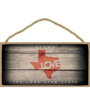 "TEXAS - State Outline with ""Love"" and St"