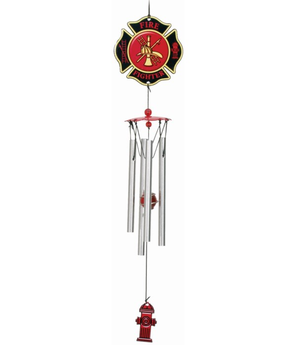 FIREFIGHTER WIND CHIME