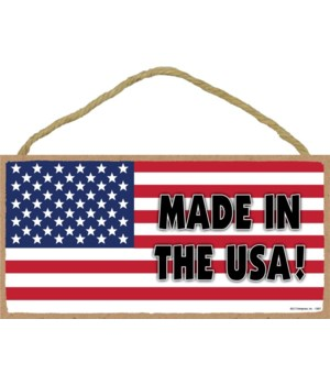 Made in the USA! (American flag) 5x10