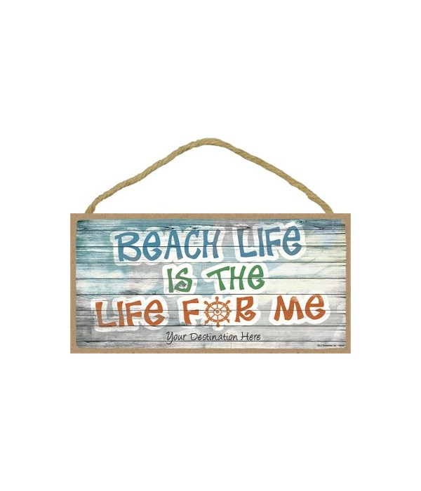 Beach life is the life for me - boat whe
