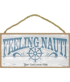 Feeling Nauti - nautical boat wheel 5x1