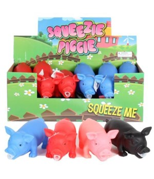 """Squeezie snorting pig -4/A- 8"""" -12pc dsp"""