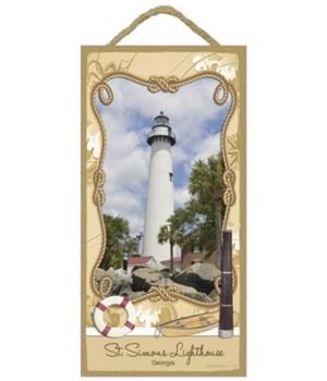 St. Simons Lighthouse Georgia 5x10