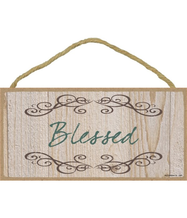 Blessed 5x10 sign