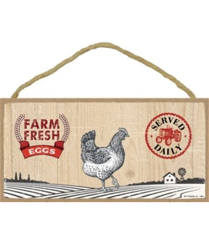 Farm Fresh Eggs 5x10 sign