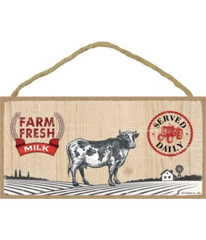 Farm Fresh Milk 5x10 sign