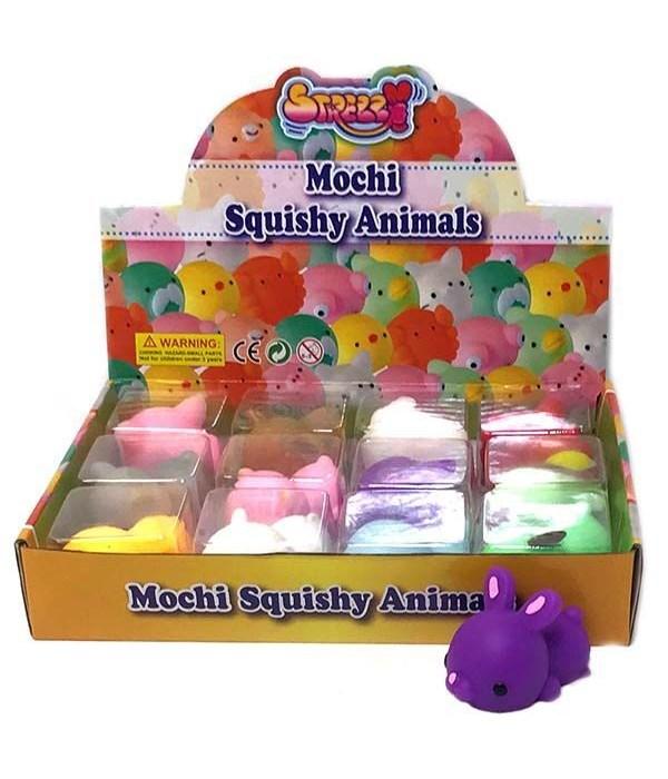 "Squish Animals 6/A -12pc-3"""