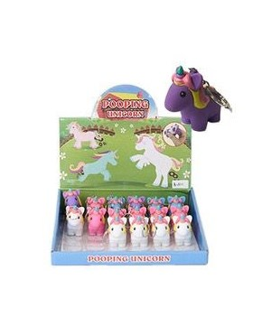 Pooping unicorn key chain