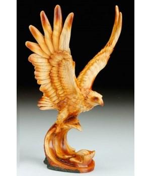 """Eagle flying wood look 10 1/4"""""""