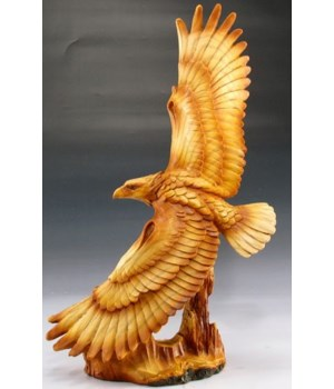 Eagle flying wood look 12.5""