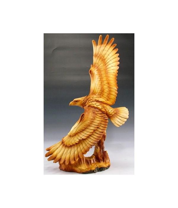 """Eagle flying wood look 12.5"""""""