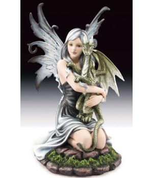 Fairy holding GN dragon 11-1/4""